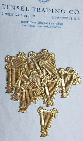 Gold Small Harp Dresden 30 pcs