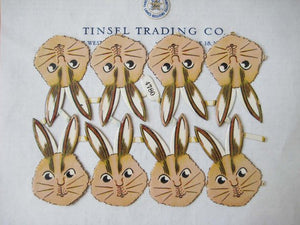 Bunny Head Scrap 8 pcs