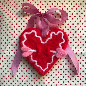 Valentine Felting Heart Kit