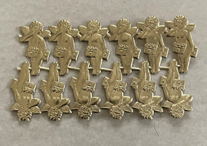 Gold Dresden Cupid Messenger Dresden 12 pcs