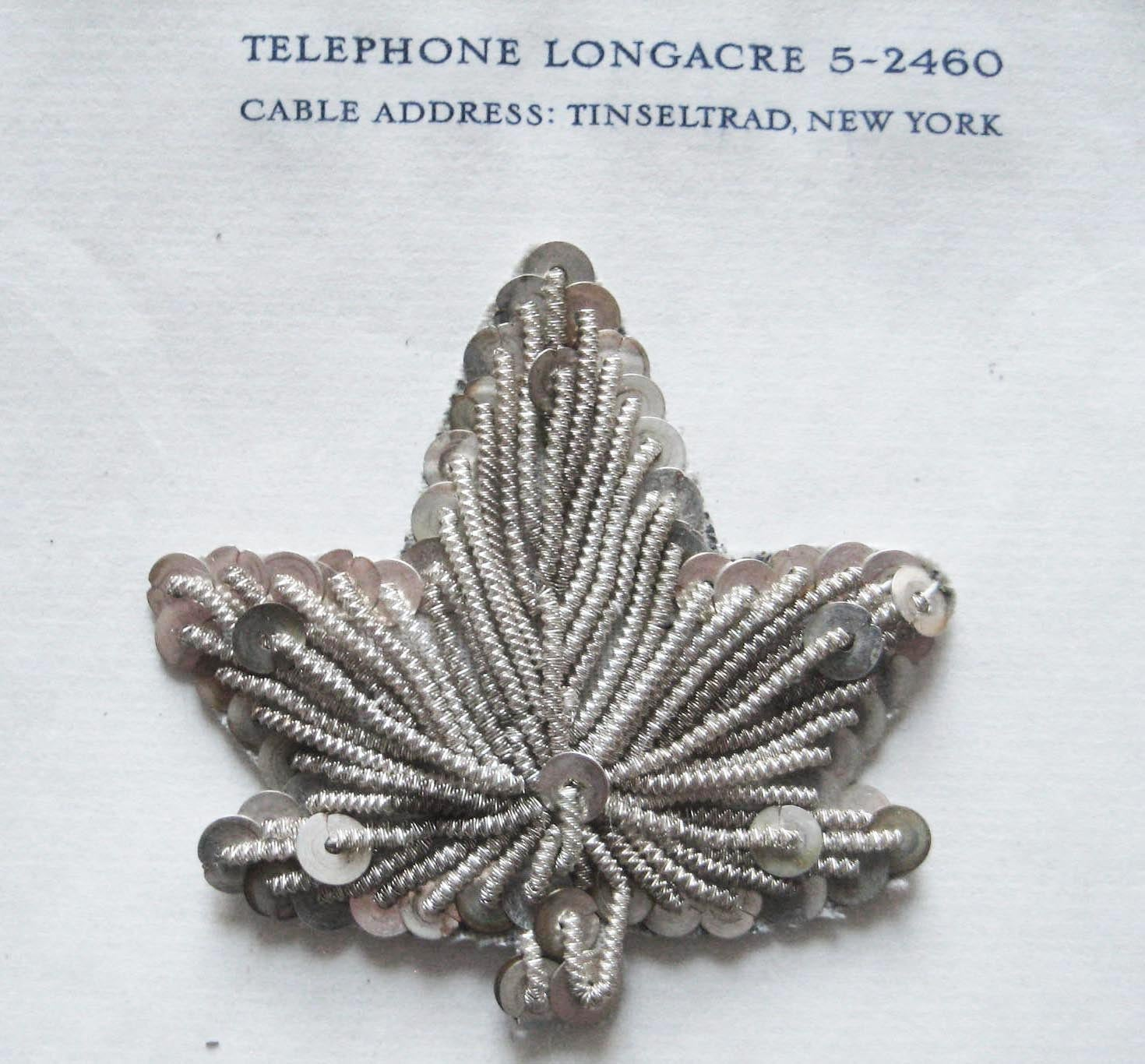 Silver Bullion/Sequin Leaf