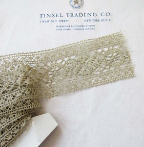 Gold Metallic Lace Trim 2""