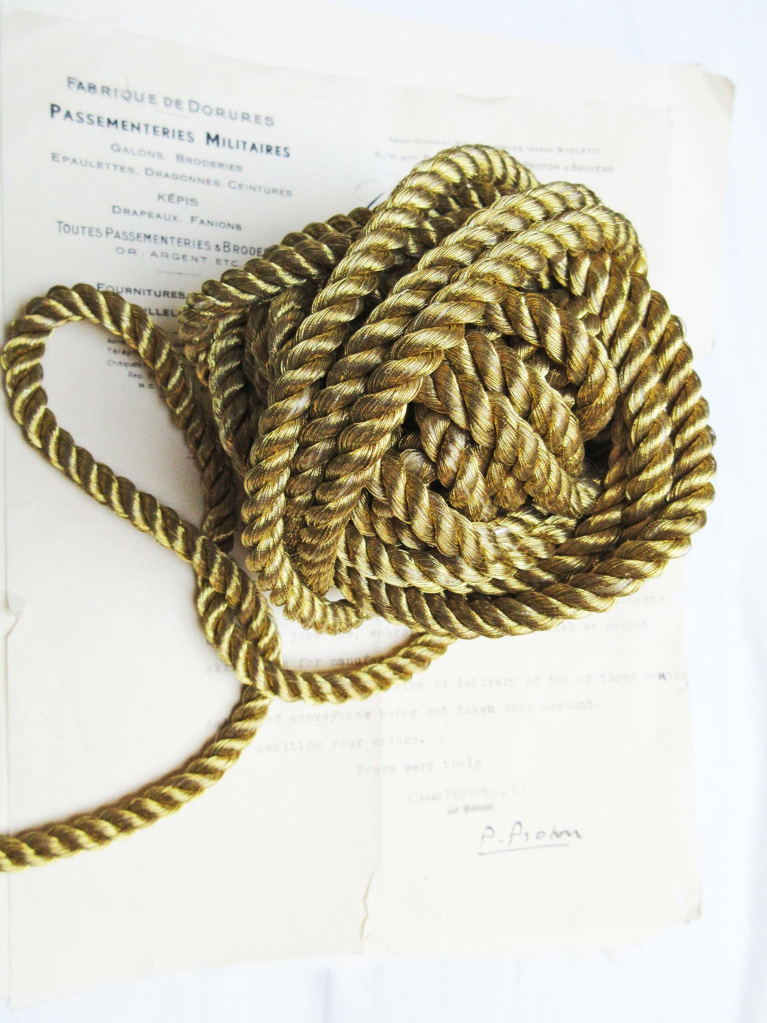 Gold Metallic Cord 3/8""