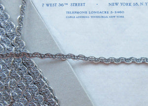 2 yds Two Tone Silver Metallic Trim 1/4""