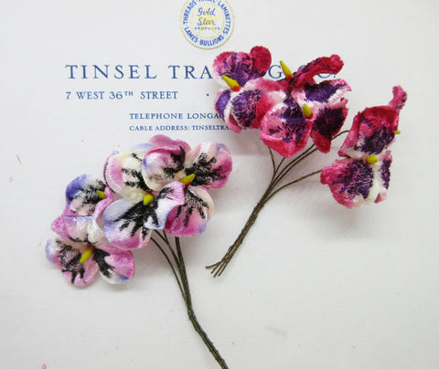 Velvet Pansy Heads - 2 colors
