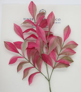 Pink/Multi Color Muslin Leaf Spray - SALE