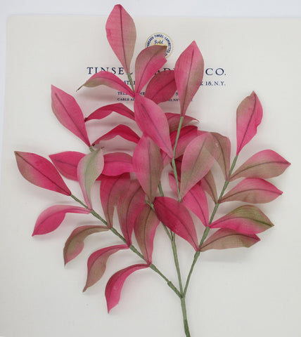 Pink/Multi Color Muslin Leaf Spray
