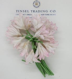 White w/Pink Tips Floppy Flowers
