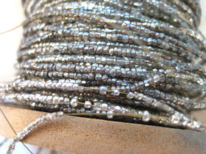Silver Glass Beads on Wire 2 yards