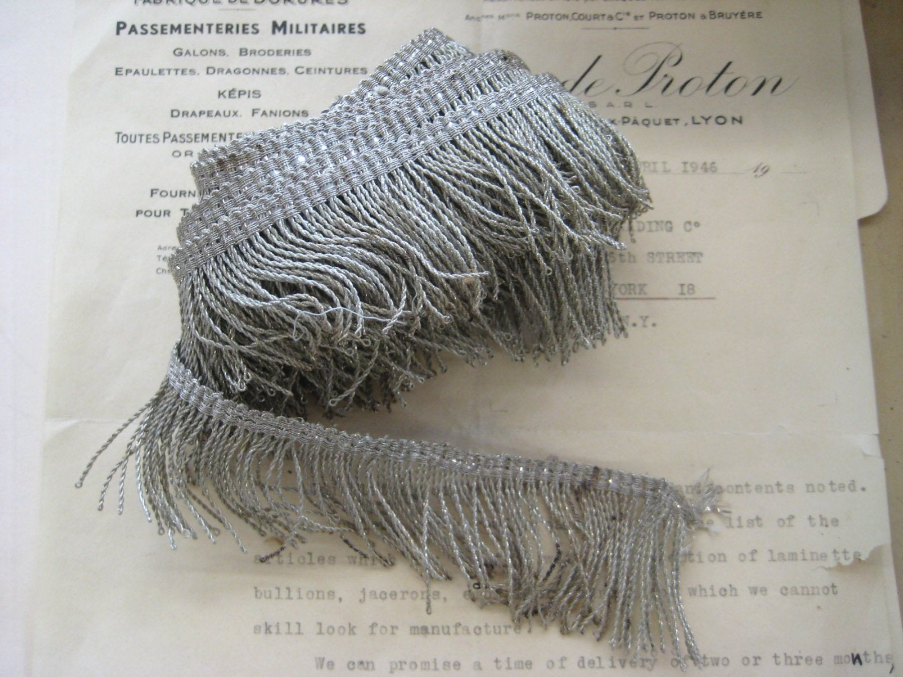 Silver Twist Thread Fringe