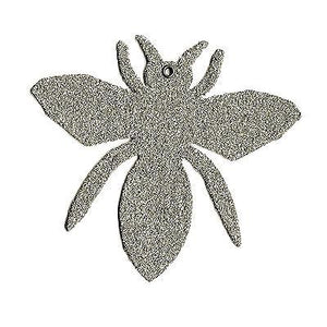 Silver Glass Glitter Bee