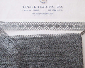 "Pewter Metallic Lace Trim 13/16"" 2 Yards"