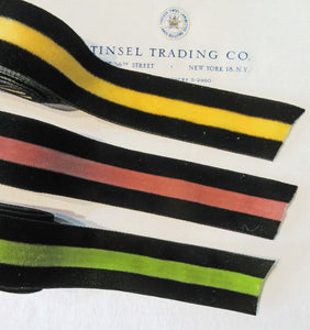 Velvet Stripe Ribbon Asst Colors
