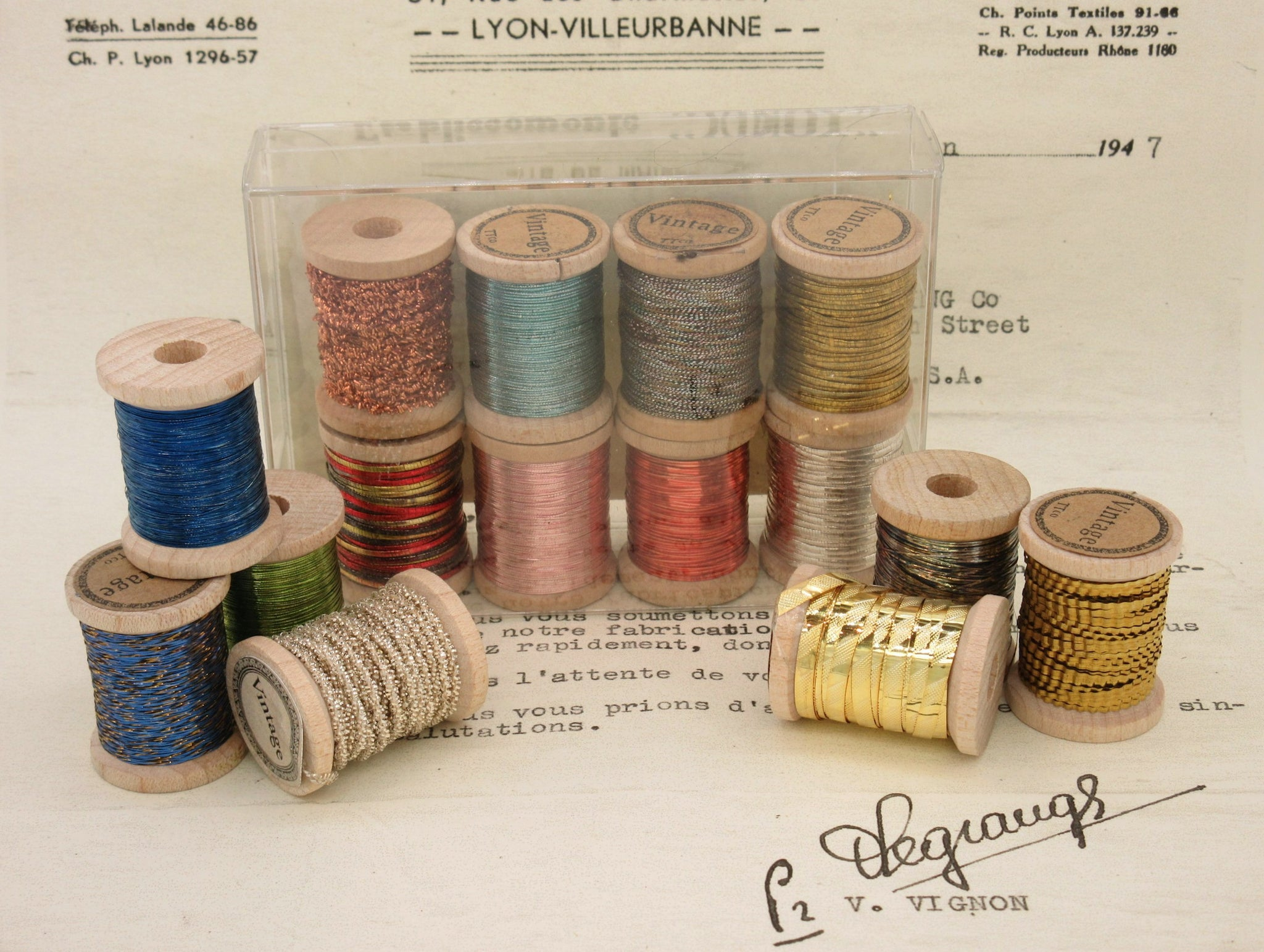 Assorted Colors Antique French Metallic Thread
