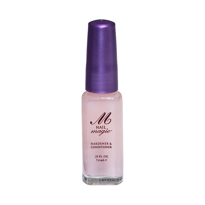 Condition, harden, and strengthen the natural nail with Nail Magic's .25 fl oz Nail Hardener & Conditioner