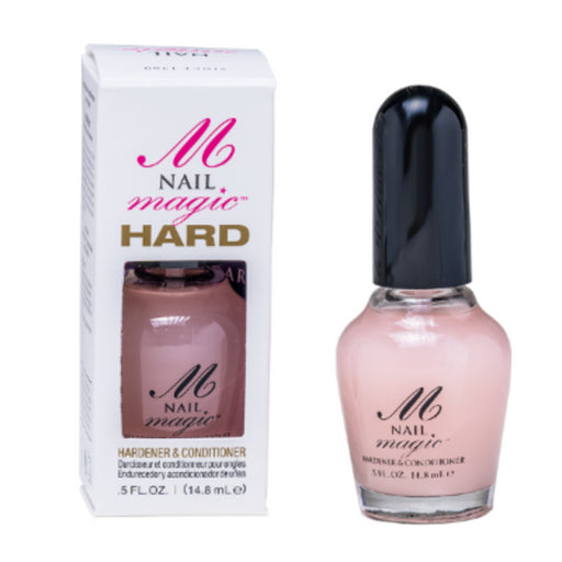Condition, harden, and strengthen the natural nail with Nail Magic's .5 fl oz Nail Hardener & Conditioner