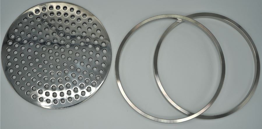 Filter Plate Inline Perforated with 2 Rings