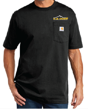 N.B. Oler Men's Black Short Sleeve, Carhartt, CRC