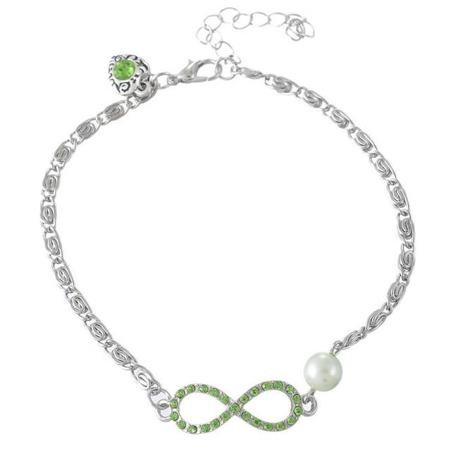 infinity anklet. infinity anklet e