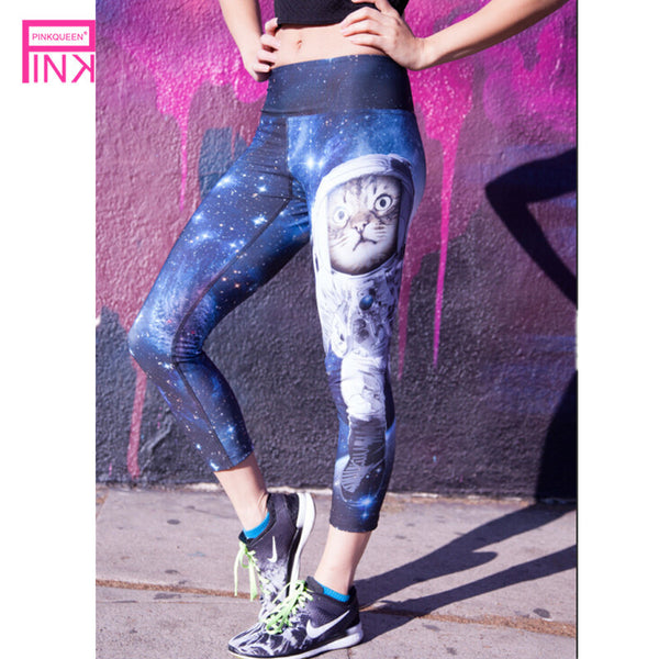 Pinkqueen Fashion Workout Pants Women High Waist Leggings Cat 3D Print Ladies Sporting Leggings Fitness Pants Trousers Harajuku