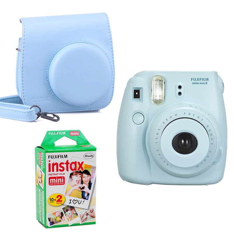Fujifilm Instax Mini 8 Instant Printing Digital Camera With Twin Pack Film Photo Paper And Camera Protection Case Bag