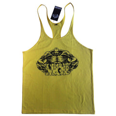 Fitness Men Bodybuilding Shirts Gyms Tank Tops Sleeveless Clothing Cotton Racerback Workout For Mens Print Broadcloth Muscle