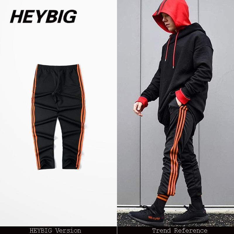 Old school 3 Stripes Trousers 2017 new spring Pants workout sweatpants black hip hop street style Asian size! presale May 10th