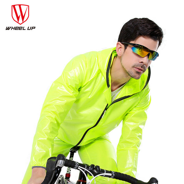 WHEEL UP Waterproof Windproof Cycling Jacket Raincoat Men Road MTB Mountain Bike Raincoat Pants Rainwear Sets Cycling Equipment
