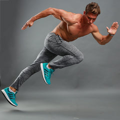 New Men Casual Joggers Compression Tight Gyms Bodybuilding Pants Slim Breathable Elastic Waist Workout Quick drying Sweatpants