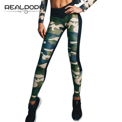 Realpopu 2017 Camouflage Patchwork Sexy High Waist Workout Fitness Legging Summer Adventure Time Push Up Leggings Women Pants