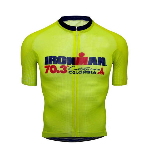 IRONMAN 70.3 Colombian cycling jersey/2017 Breathable Bike Riding Wear Ropa Ciclismo Bicicletas Short Sleeve Cycling Clothing