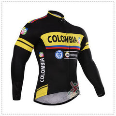 WINTER FLEECE THERMAL 2015 COLOMBIA TEAM ONLY LONG SLEEVE ROPA CICLISMO CYCLING JERSEY CYCLING WEAR SIZE XS-4XL