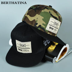 BERTHATINA New Camouflage Snapback Hats Adjustable Street Skateboard Hip Hop Exercise Baseball Cap Polo Falt Hat for Men&Women