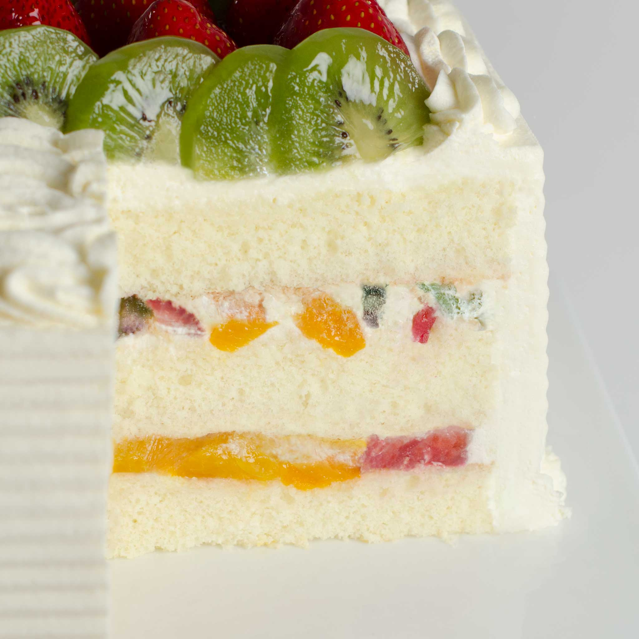 La Rocca Mixed Fruit Torte Celebration Cake - Detail