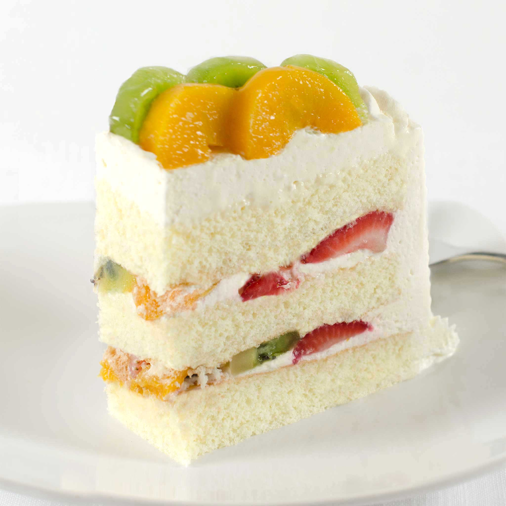 La Rocca Mixed Fruit Torte Celebration Cake - Slice