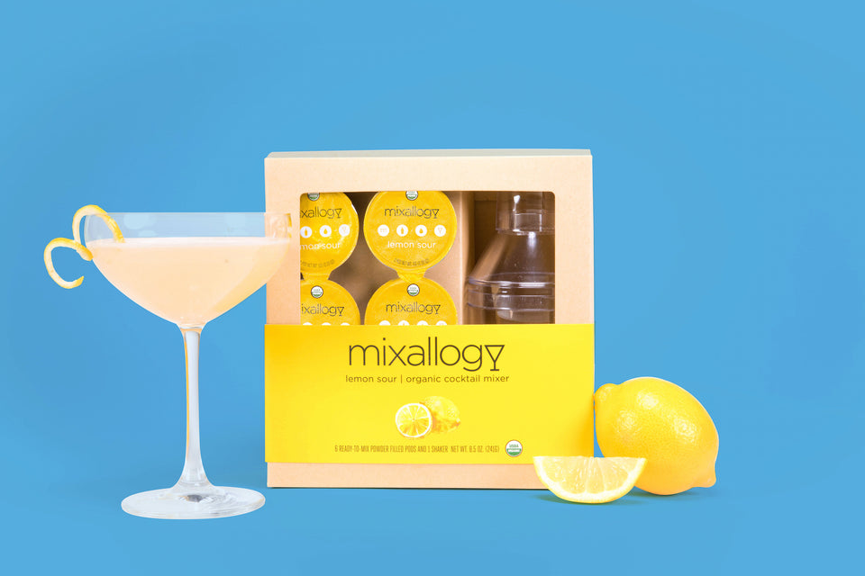 Lemon Sour cocktail mixer & cocktail shaker