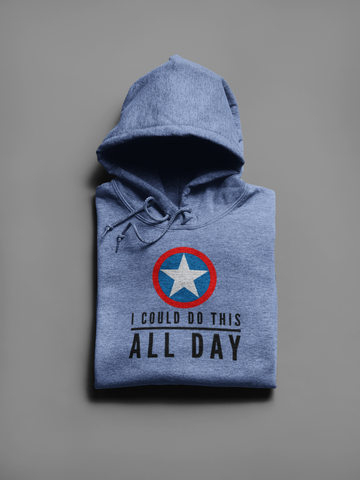I Could Do This All Day - Men Gamer Pullover Hoodie - darkgamer