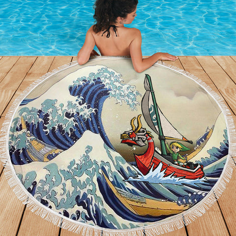 Great Wave - Beach Blanket - Free Shipping - darkgamer - gamer clothing and accessories