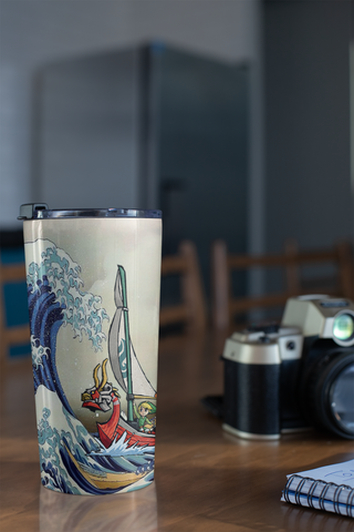 Great Wave - Travel Mug- Free Shipping - darkgamer - gamer clothing and accessories