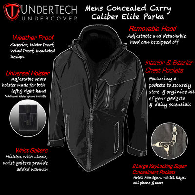Men's Concealed Carry Caliber Elite Parka