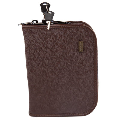 Magnetic Locking Case - Brown Leather
