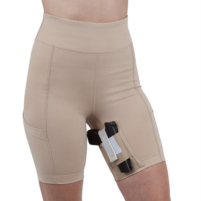 Womens Concealed Carry Thigh Holster Shorts