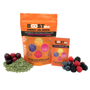 BOOSTme NOW!  –– The healthiest, No BS energy shot –– 12 Shot Pouch