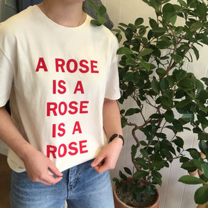 """A Rose Is A Rose"" Causal Print T-Shirt"