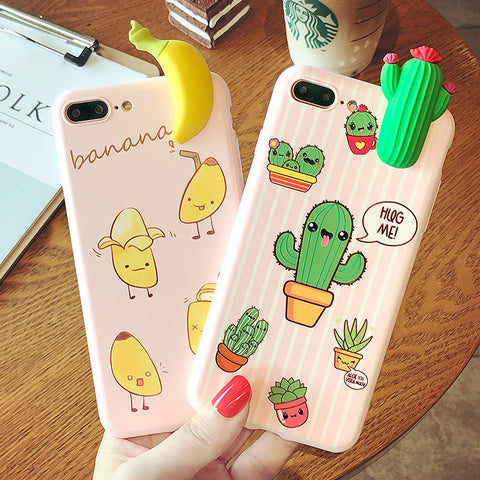 """Banana & Cactus"" Cases For iPhone"