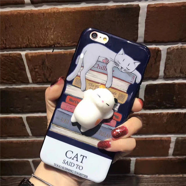 Squishy Cat Cases for iPhone 8/8+ & iPhone X