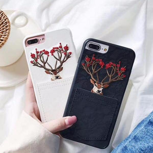 """Christmas Deer"" Cases for iPhones"