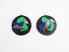 "NÜBYA - ""ART SESSION RD GREEN"" LEATHER EARRINGS"