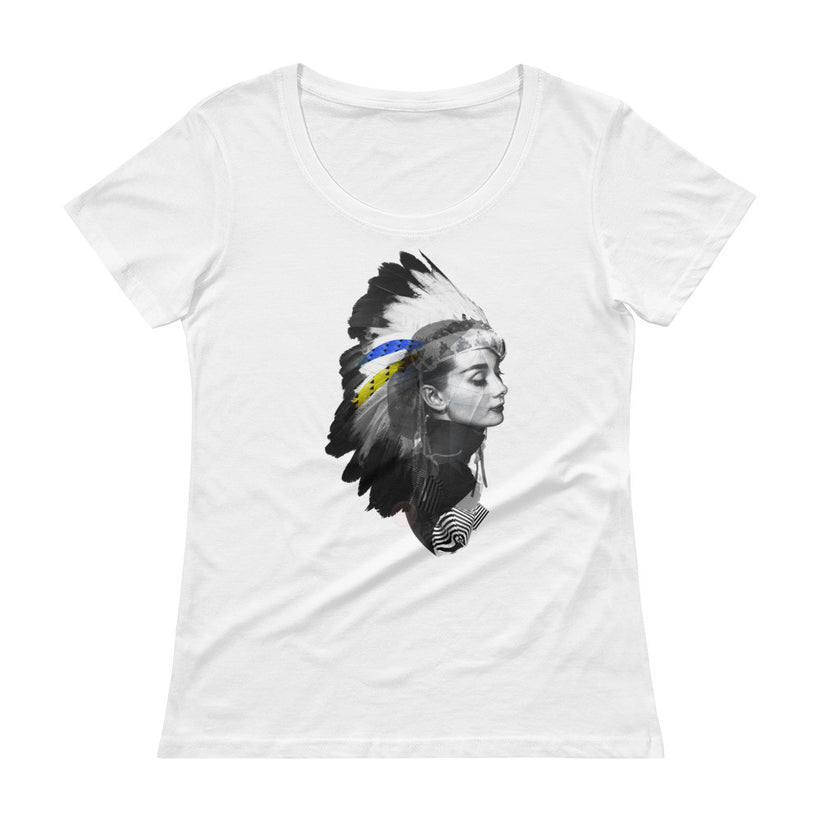"""Audrey Headdress"" Ladies' Scoopneck T-Shirt"