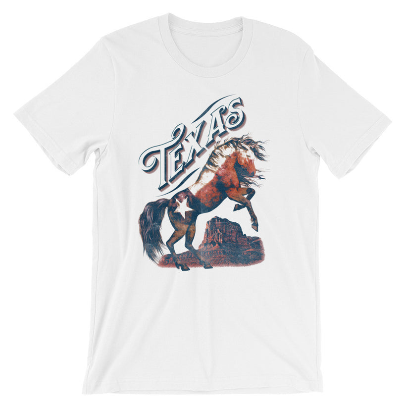 """TEXAS"" Unisex short sleeve t-shirt"